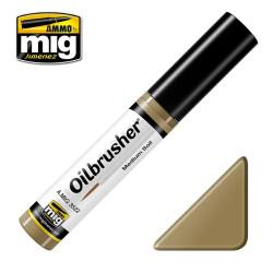 Oilbrusher: Oleo Tierra polvorienta, Dusty Earth. Marca Ammo of Mig Jimenez. Ref: AMIG3523.