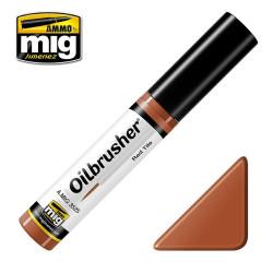 Oilbrusher: Oleo rojo teja, red tile. Marca Ammo of Mig Jimenez. Ref: AMIG3525.