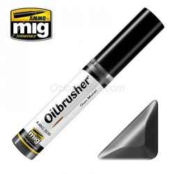 Oilbrusher: Oleo acero pavonado, Gun metal. Marca Ammo of Mig Jimenez. Ref: AMIG3535.