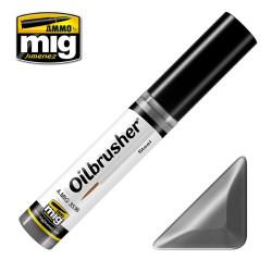 Oilbrusher: Oleo acero, steel. Marca Ammo of Mig Jimenez. Ref: AMIG3536.