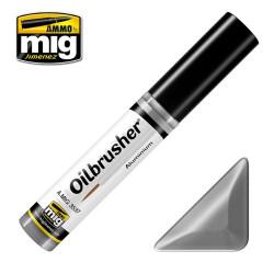 Oilbrusher: Oleo Aluminio, aluminium. Marca Ammo of Mig Jimenez. Ref: AMIG3537.