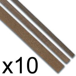 Listones madera Manzania  2 x 5 x 1000 mm. Paquete de 10 unidades. Marca Constructo. Ref: 480126.