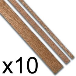 Listones madera Sapelly 1 x 3 x 1000 mm. Paquete de 10 unidades. Marca Constructo. Ref: 480141.