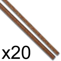 Chapa forro sapelly 0.5 x 4 x 1000 mm. Paquete de 20 unidades. Marca Constructo. Ref: 480163.