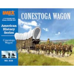 Set conestoga wagon, carreta americana. Escala 1:72. Marca Imex. Ref: IM518.