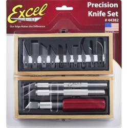 Estuche de 3 cutters y cuchillas. Marca Excel. Ref: 44382.