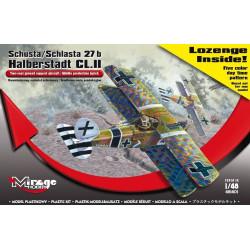 Schusta/Schlasta 27b Halberstadt CL.II. Escala 1:48. Marca Mirage hobby. Ref: 481401.