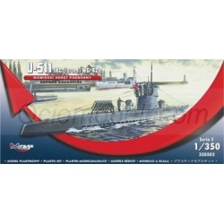 U-511 (IXC TURN I + WGr42) GERMAN SUBMARINE. Escala: 1:350. Marca: Mirage. Ref: 350502.