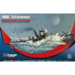 A86 Niemiecki Torpedowiec typu A/III/56/1916. Escala: 1:350. Marca: Mirage. Ref: 350505.