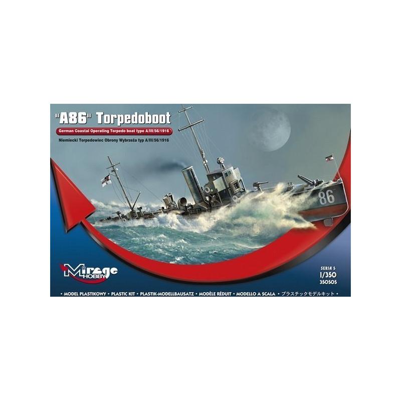 MIRAGE HOBBY® 350505 German Torpedo Boat A86 Type A//III//56//1916 in 1:350