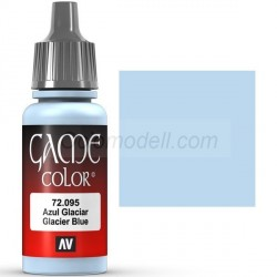 Acrilico Game Color, Azul glaciar. Bote 17 ml. Marca Vallejo. Ref: 72.095.