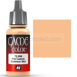 Acrilico Game Color, Piel cadmio. Bote 17 ml. Marca Vallejo. Ref: 72.099.