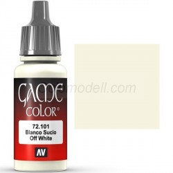 Acrilico Game Color, Blanco sucio. Bote 17 ml. Marca Vallejo. Ref: 72.101.