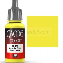 Acrilico Game Color, Amarillo fluor. Bote 17 ml. Marca Vallejo. Ref: 72.103.