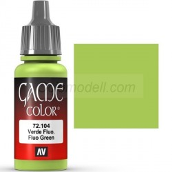 Acrilico Game Color, Verde fluor. Bote 17 ml. Marca Vallejo. Ref: 72.104.