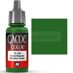 Acrilico Game Color, Verde mutante. Bote 17 ml. Marca Vallejo. Ref: 72.105.