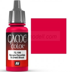 Acrilico Game Color, Sangre Escarlata. Bote 17 ml. Marca Vallejo. Ref: 72.106.