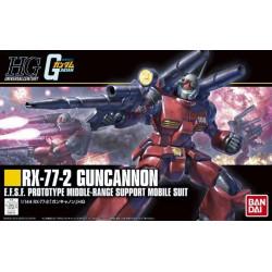 HGUC 190 RX-77-2 Guncannon. Serie Gundam. Escala 1:144. Bandai. Ref: 196715.