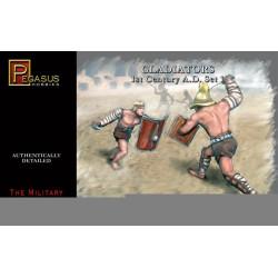 Gladiadores, set 1. Escala 1:32. Marca Pegasus. Ref: PG3201.