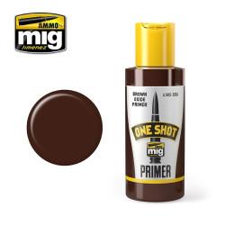 One shot primer, marrón óxido. Bote 60 ml. Marca Ammo of Mig Jimenez. Ref: AMIG2026.