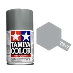 Spray gloss aluminum, aluminio brillante, 85017. Bote 100 ml. Marca Tamiya. Ref: TS-17.