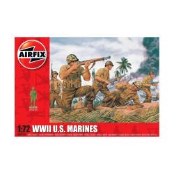 Set de Figuras marines U.S. WWII. Escala 1:72. Marca Airfix. Ref: A00716.