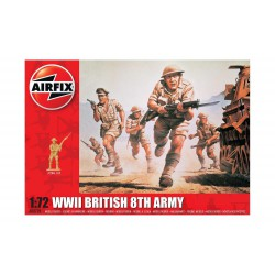 Set de Figuras de 8º artilleria Britanica, WWII. Escala 1:72. Marca Airfix. Ref: A00709.