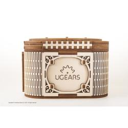 Caja secretos, madera contrachapada, Kit de montaje, Escala 1:1. Marca Ugears, Ref: 70031.