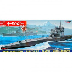 Submarino I-506 (U-IX DI) Japanese. Escala: 1:400. Marca: Mirage. Ref: 40046.