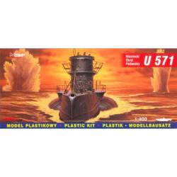 Submarino German U-Boot U-571. Escala: 1:400. Marca: Mirage. Ref: 40043.