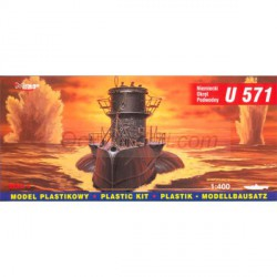 Submarino German U-Boot U-571. Escala: 1:400. Marca: Mirage. Ref: 40043.