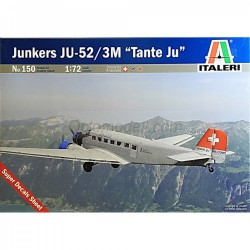 "Junkers JU-52/3M "" tante Ju"". Escala 1:72. Marca Italeri. Ref: 150."