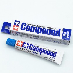 Polishing compound, fine. Tubo 22 ml. Marca Tamiya. Ref: 87069.