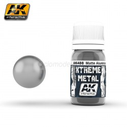 Xtreme Metal, Aluminio mate. Contiene 35 ml. Marca AK Interactive. Ref: AK488.