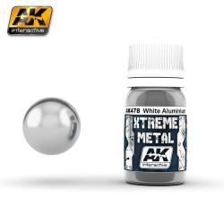 Xtreme Metal, Aluminio blanco. Contiene 30 ml. Marca AK Interactive. Ref: AK478.