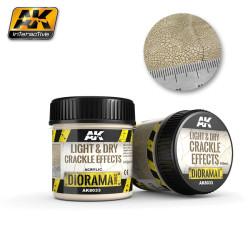 Producto weathering, Efecto de tierra clara, seca craquelada . Bote de 100 ml. Marca AK Interactive. Ref: AK8033.