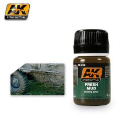 Efecto de barro fresco. Bote de 35 ml. Marca AK Interactive. Ref: AK016.