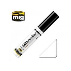 Oilbrusher: Oleo blanco, white. Marca Ammo of Mig Jimenez. Ref: AMIG3501.