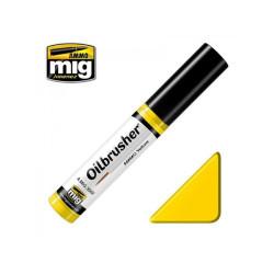 Oilbrusher: Oleo amarillo, yellow. Marca Ammo of Mig Jimenez. Ref: AMIG3502.