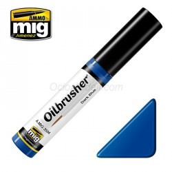Oilbrusher: Oleo azul oscuro, dark blue. Marca Ammo of Mig Jimenez. Ref: AMIG3504.