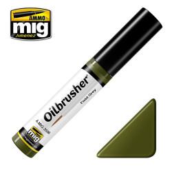 Oilbrusher: Oleo verde campo, field green. Marca Ammo of Mig Jimenez. Ref: AMIG3506.