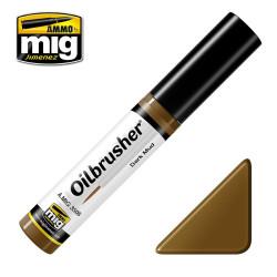 Oilbrusher: Oleo barro oscuro, dark mud. Marca Ammo of Mig Jimenez. Ref: AMIG3508.