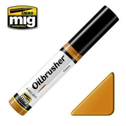 Oilbrusher: Oleo ocre, ochre. Marca Ammo of Mig Jimenez. Ref: AMIG3515.
