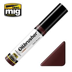 Oilbrusher: Oleo marrón oscuro, dark brown. Marca Ammo of Mig Jimenez. Ref: AMIG3512.