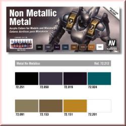 Set Game color, Non Metallic Metal, 8 colores. Bote 17 ml. Marca Vallejo. Ref: 72212.