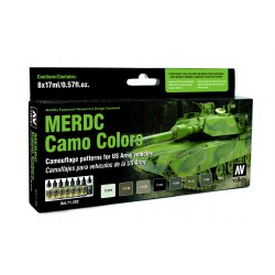 Model Air MERDC Camo. 8 Colores. Bote 17 ml. Marca Vallejo. Ref: 71202.