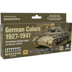 Model Air German Colors 1927-1941. 8 Colores. Bote 17 ml. Marca Vallejo. Ref: 71205.