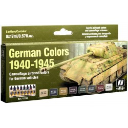 Model Air German colors 1940-1945. 8 Colores. Bote 17 ml. Marca Vallejo. Ref: 71206.