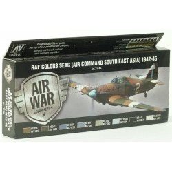Model Air RAF Colors SEAC (Air Command South East Asia) 1942-1945. 8 Colores. Bote 17 ml. Marca Vallejo. Ref: 71146.