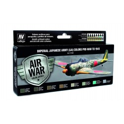Model Air Imperial Japanese Army (IJA) Colors. 8 Colores. Bote 17 ml. Marca Vallejo. Ref: 71152.
